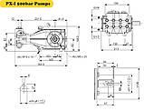 Плунжерный насос высокого давления Hawk PX 2150  ( 1260 л/ч - 500 бар ), фото 2