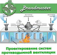 Устройство вытяжной противодымной вентиляции