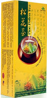 Чай с сосновой пыльцой Сун Хуа Green World . Замедляет старение,повышает иммунитет.20 пак. по 2 гр.