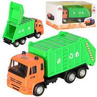 Машинка 6512D (96шт) металл, инер-я, мусоровоз, 14см, 1:54, рез.колеса, в кор-ке, 16,5-9-6см