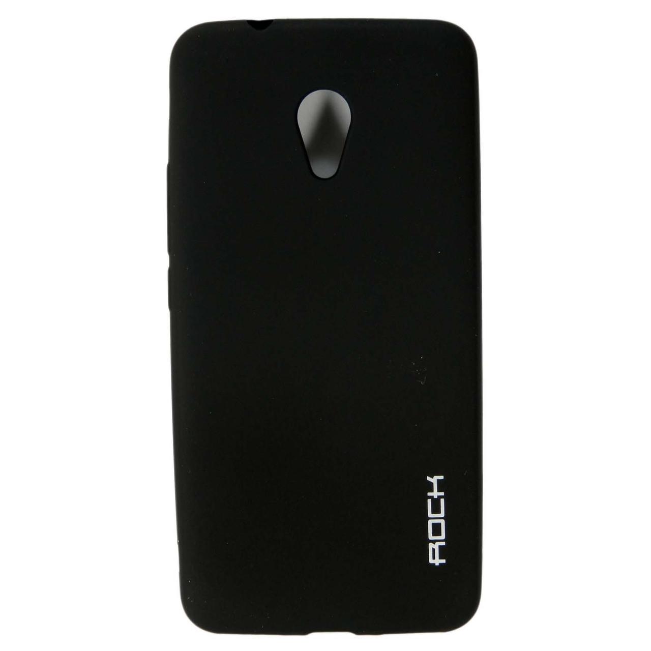 Чехол накладка для Meizu M5s силиконовый матовый, ROCK, черный