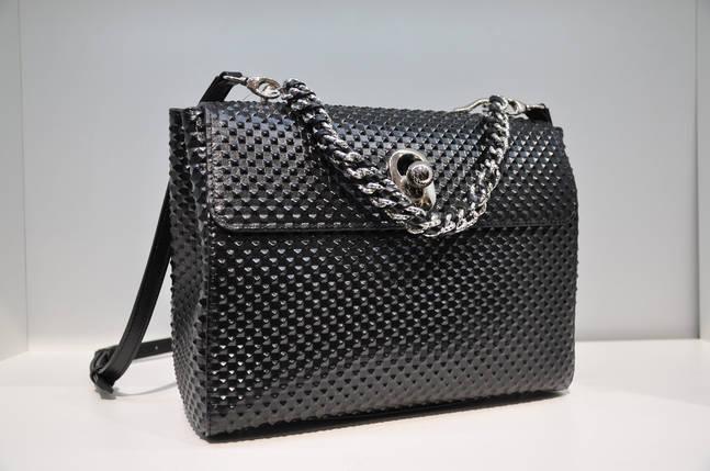 Женская кожаная сумка, черная 669, фото 2