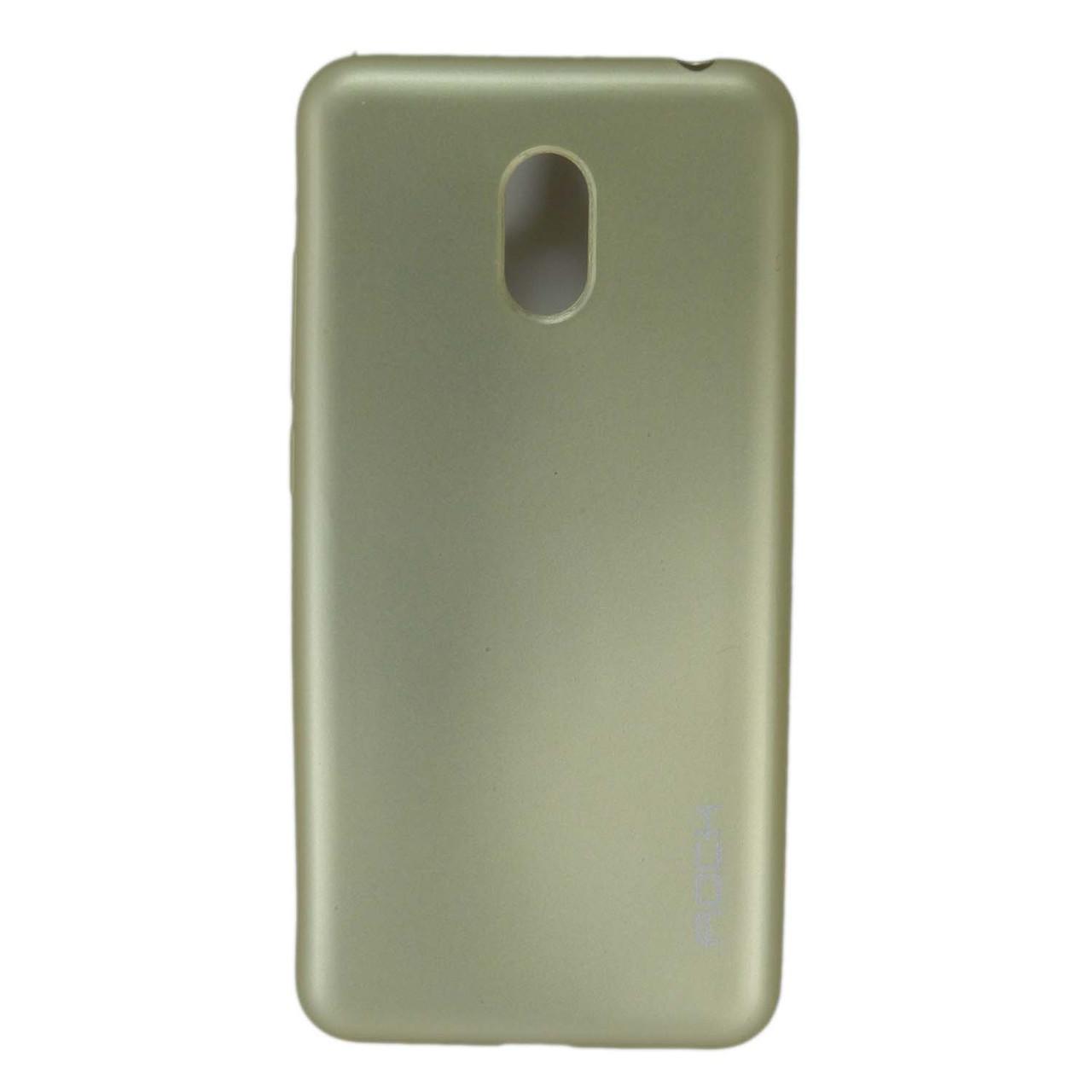 Чехол накладка для Meizu M6 силиконовый матовый, ROCK, золотистый
