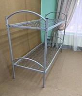 Кровать металлическая двухъярусная 1900х900 с металлическими перилами ЕКП