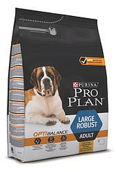 Pro Plan Large Adult Robust Optibalance 14кг для взрослых собак крупных пород с мощным телосложением с курицей