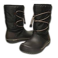 Сапоги зимние женские непромокаемые со шнуровкой Crocs Women's Crocband II.5 Cinch Boot