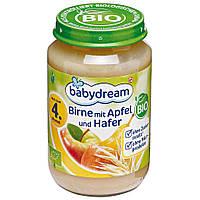Babydream Пюре фруктовое (груша, яблоко и зерновые) 190 г  с 4-го мес.