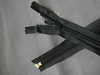 Молния YKK. спиральная.  с бегунком №10. цвет чёрный. УСИЛЕННАЯ. 105 см