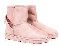 Польские угги нежно розового цвета