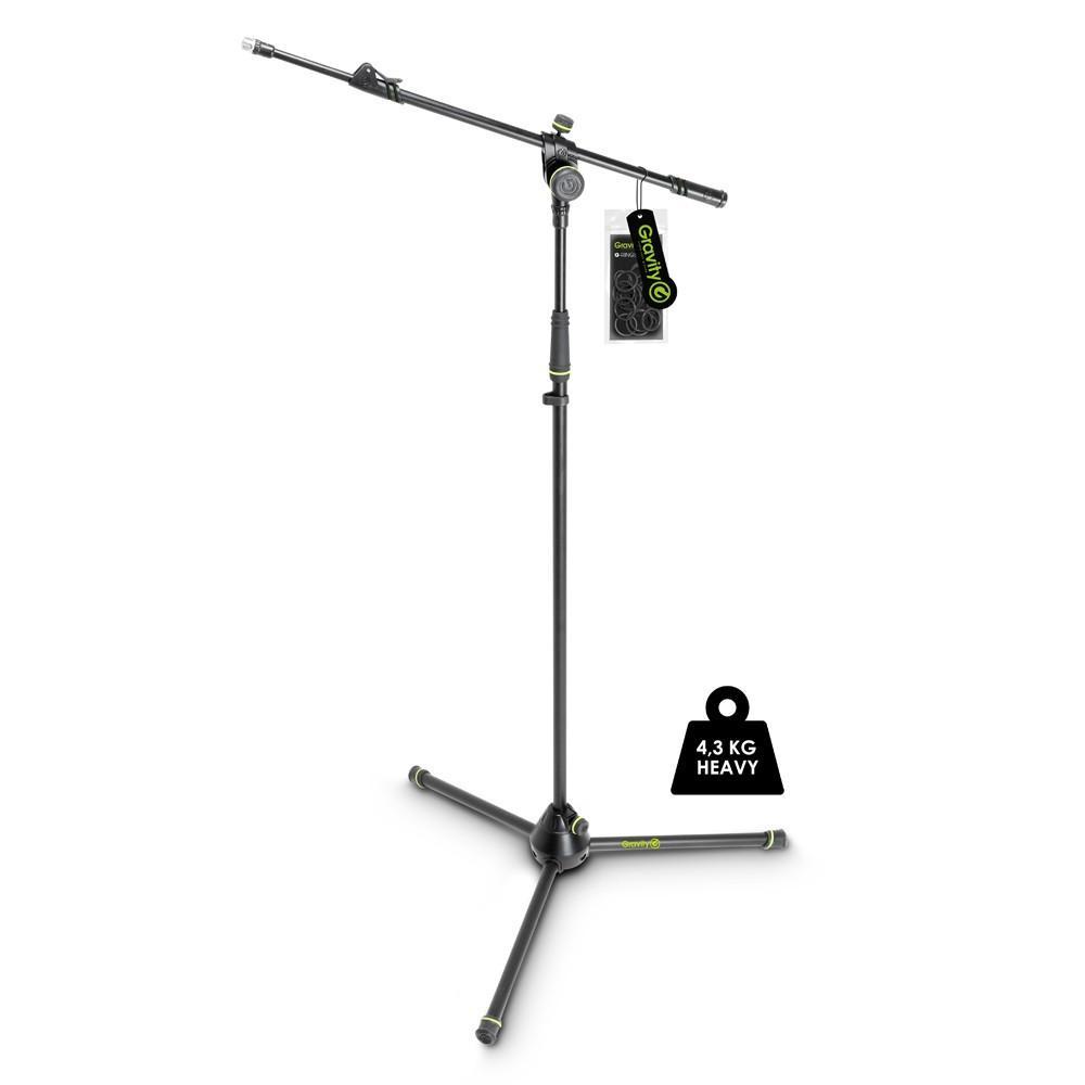 """Усиленная микрофонная стойка """"журавль"""" с телескопической удочкой Gravity MS4322HDB"""