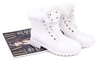 Белые зимние ботинки от польского производителя размеры 39,40
