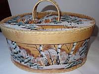 "Хлебница из бересты ""зима"""