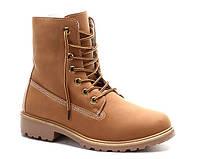 Женские зимние ботинки коричневого цвета