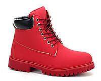 Модные ботинки красного цвета с Польши