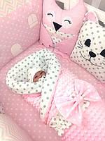 """Роскошный постельный комплект для девочки """"Розовая нежность"""", фото 1"""