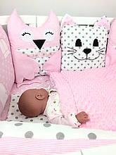 """Роскошный набор постельного белья для девочки """"Розовая нежность""""  (hand made)"""