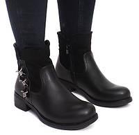Комбинированые ботинки демисезонные