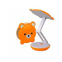 Настольная лампа LED 2W оранжевая с АКБ 4V 800MA 4 часа