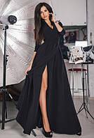 Черное вечернее платье -ГАРСИЯ- в пол