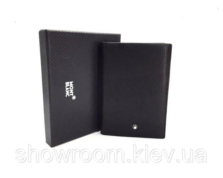 Обложка для паспорта в стиле Montblanc (MB 2797) black leather