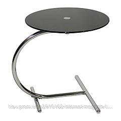 Столик журнальный круглый Home4You ASTI  D45xH50cm  tempered glass  black