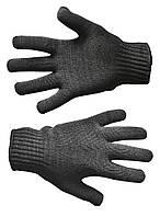 Перчатки вязанные черные двойные L (540), пр-во Украина