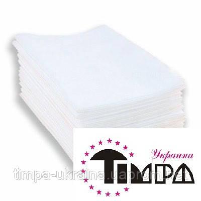 Полотенце одноразовое 40х70 50 шт (Timpa) текстурные белые нарезанные, фото 2
