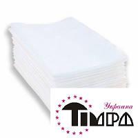 Полотенце одноразовое 40х70 50 шт (Timpa) текстурные белые нарезанные