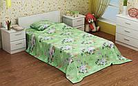 """Детский комплект постельного белья в кроватку из бязи Голд """"Маленькие пони"""" (зеленый)"""