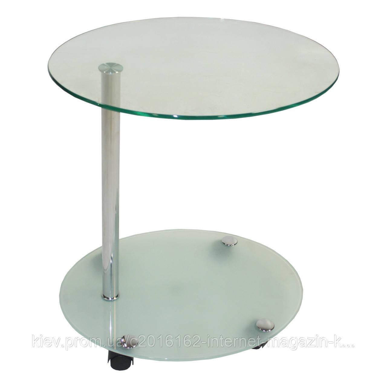 Туалетный столик Home4You LUCIA  39x49xH54cm  tempered transparent glass  chrome