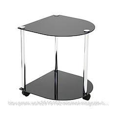 Столик журнальный Home4You VALENZA  40x40xH45cm  tempered glass  black