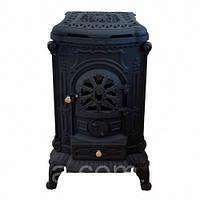 Камин печь буржуйка чугунная Bonro Black double wall 9 кВт S