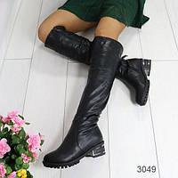 Женские зимние сапоги черные АВ-3049