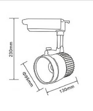 Светодиодный трековый светильник D30Н  30W 3200K Код.57979, фото 2