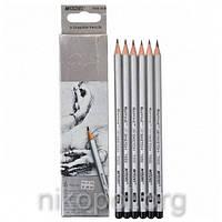 """Набор простых карандашей MARCO Raffine 7000-6CB """"2H-3B"""", твердые-мягкие"""