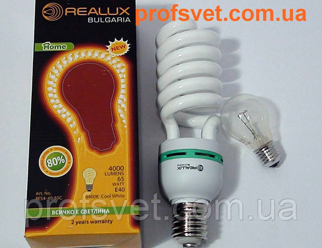 фото лампа энергосберегающая 65-w-вт е-40 realux profsvet.com.ua