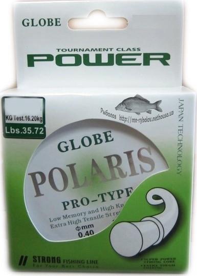 Лісочка для риболовлі Globe Polaris, перетин 0,25, довжина 30м.