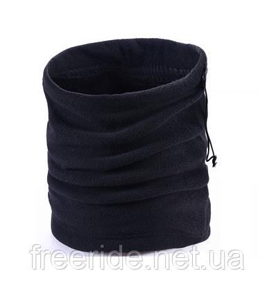 Зимний бафф с начёсом, теплый шарф-труба или шапка (#525) двухслойный, фото 2