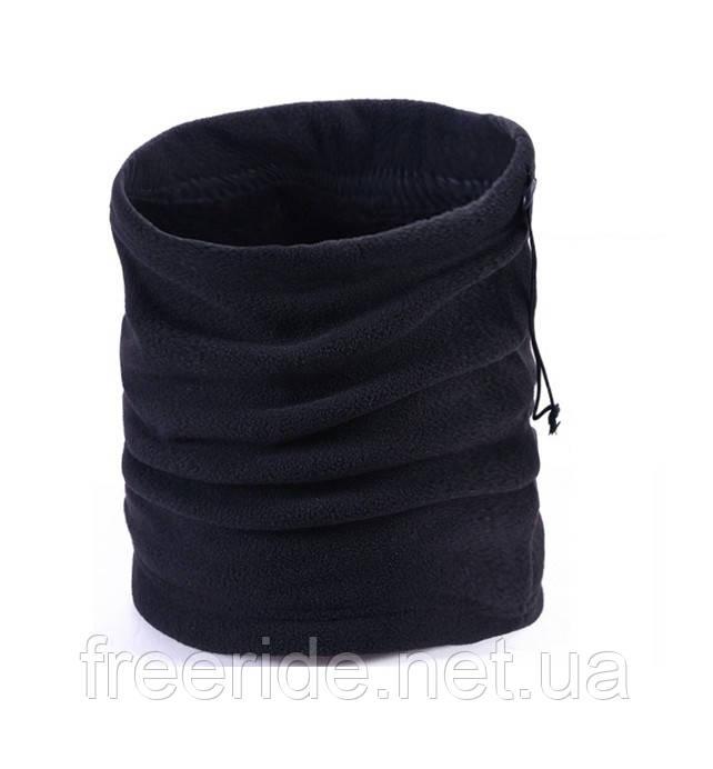 Зимний бафф с начёсом, теплый шарф-труба или шапка (#525) двухслойный