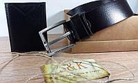 Подарочный кожаный набор кошелек + ремень