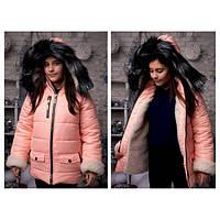 Зимняя куртка на овчине на подростка