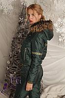 """Спортивный костюм на синтепоне """"Winter Sport"""" темно-зеленый, 46"""