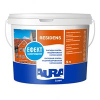 Силоксанмодифицированная фасадная краска  AURA Luxpro Residens, А (белая), 9л