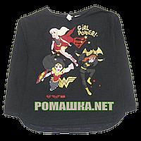 Детский реглан (футболка с длинным рукавом) р.104 для девочки ткань 100% хлопок 1110 Черный