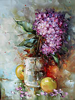 «Гортензия» картина маслом