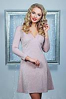Розовое платье из блестящей ткани, фото 1