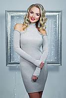 Серебристое платье по фигуре, фото 1