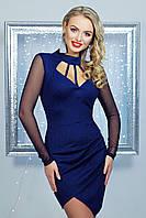 Синее платье с открытой спиной, фото 1