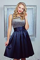 Нарядное темно-синее платье, фото 1