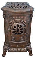 Чугунная печь камин Bonro Gold 9 кВт (двойные стенки)